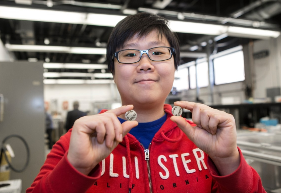 UC student Yu-Yun Hsieh is studying batteries made from carbon nanotubes at UC's Nanoworld Laboratories.