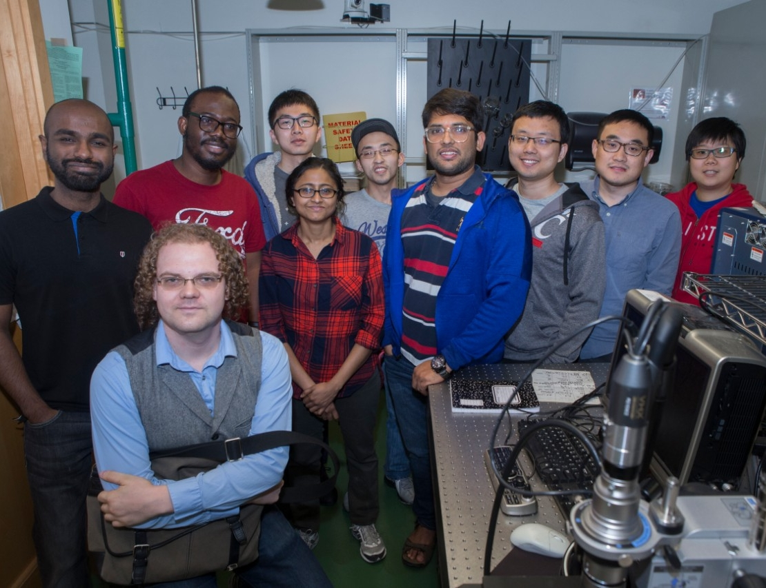 Some of the approximately 30 students who work in UC's Nanoworld Laboratories.