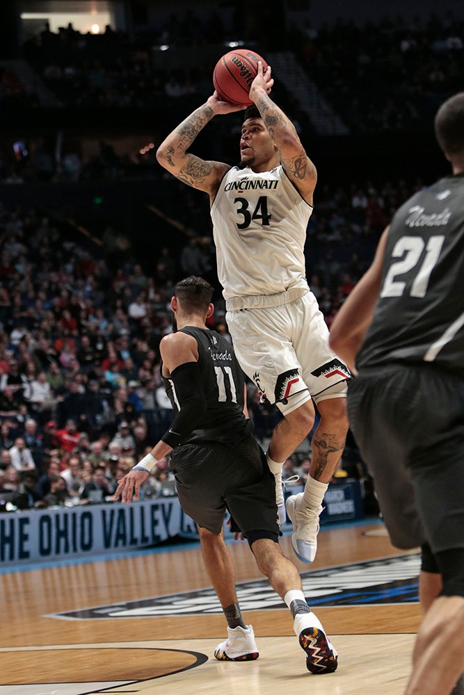 Jarron Cumberland goes up for a jump-shot.