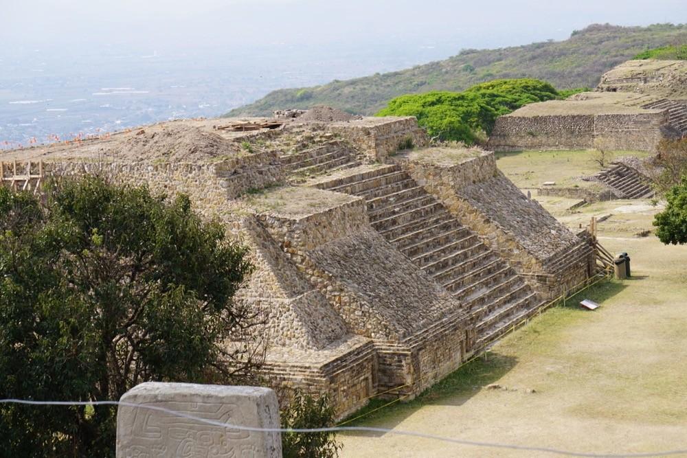 UC study abroad students climb ancient pyramids in Monte Alban near Oaxaca, Mexico.