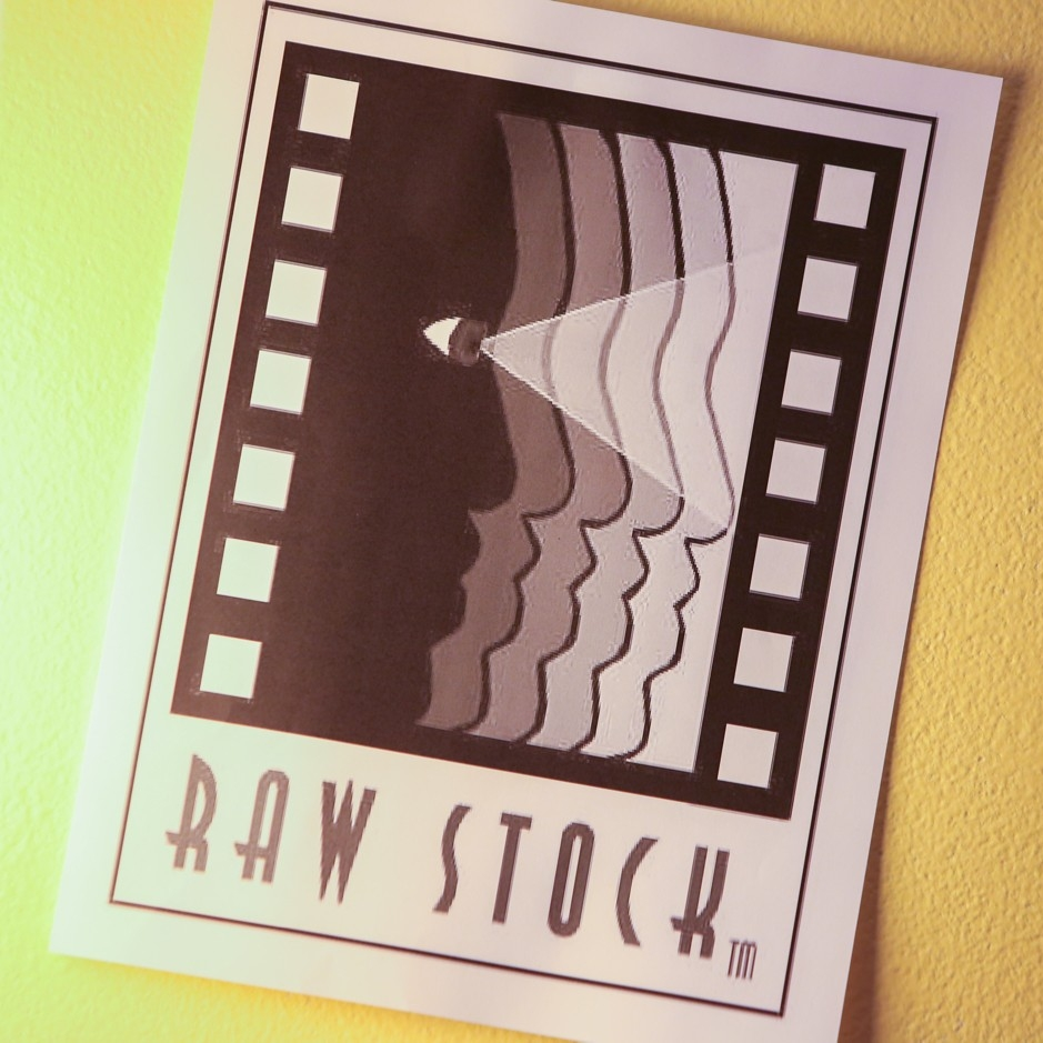 Poster of Raw Stock, a film screening by Pam Thomas.