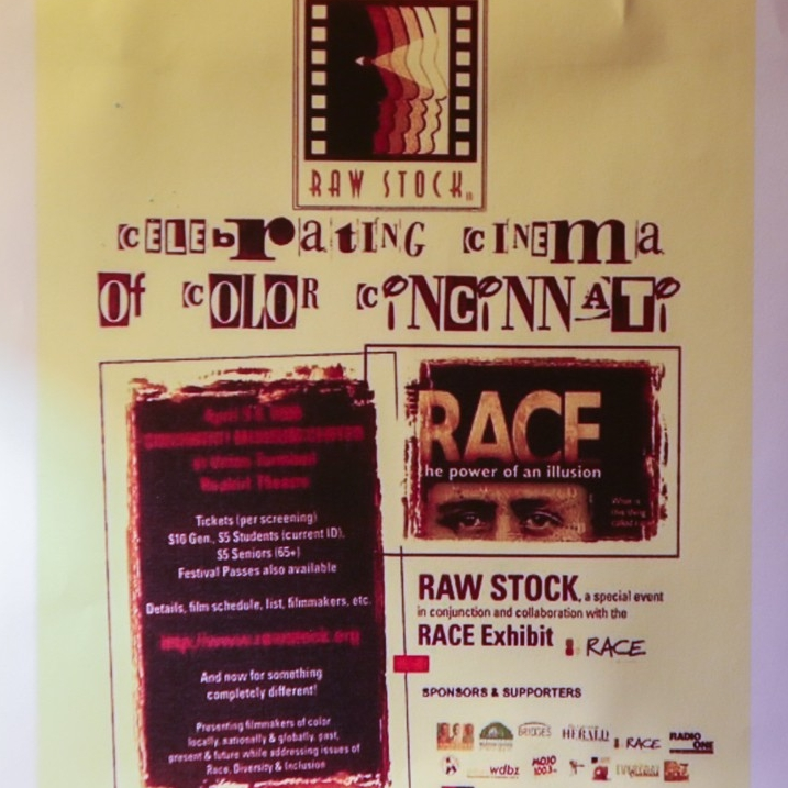 Poster of Raw Stock, celebrating cinema of color in Cincinnati.