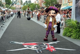 Mickey Mouse on Main Street of Disneyland