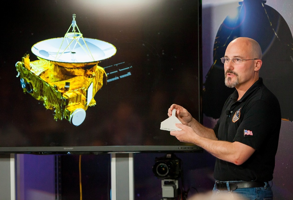 UC graduate Chris Hersman, mission systems engineer for the New Horizons mission to Pluto.
