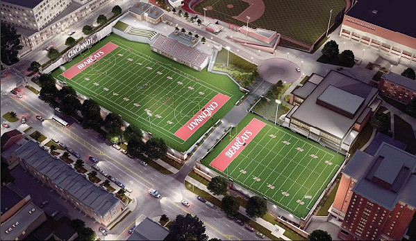 UC's new lighted practice fields will also be available to teams around the community.