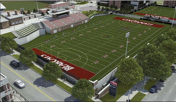 Phase two of the project will include bleacher seating, a press box, a scoreboard, concessions, a video tower, team rooms, restrooms and a plaza to connect the area with Varsity Village. If funds are in place, phase two will begin spring 2011.