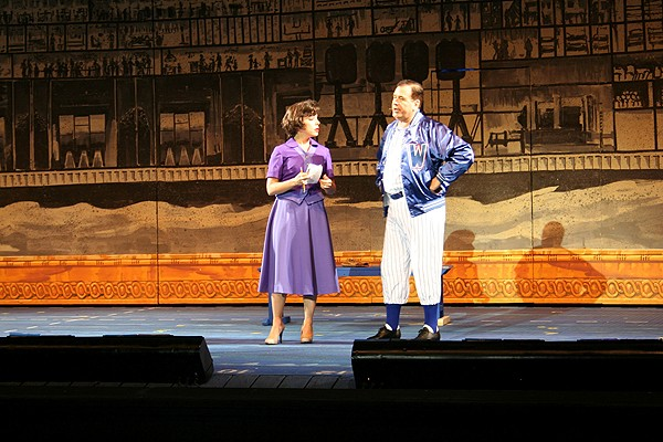 Leslie Kritzer, CCM '99, joined her friend Lee Roy Reams, CCM '64, MA (CCM) '82, on stage in the role of Gloria Thorpe.