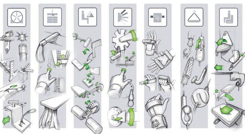 Design sketches show multiple attachments for The Access Strength.