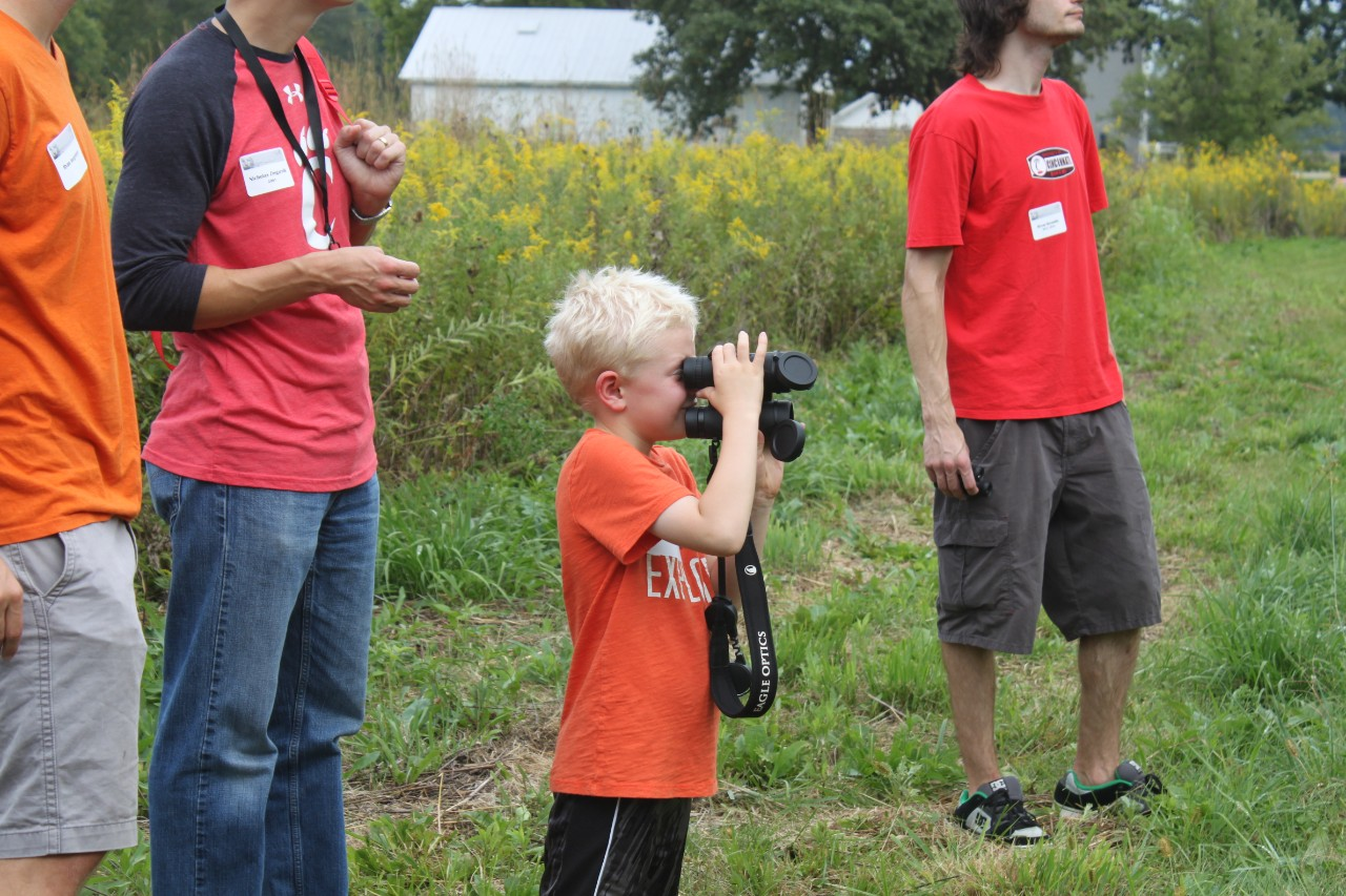 Children can look for wildlife during the annual Science Day at UC's Center for Field Studies.