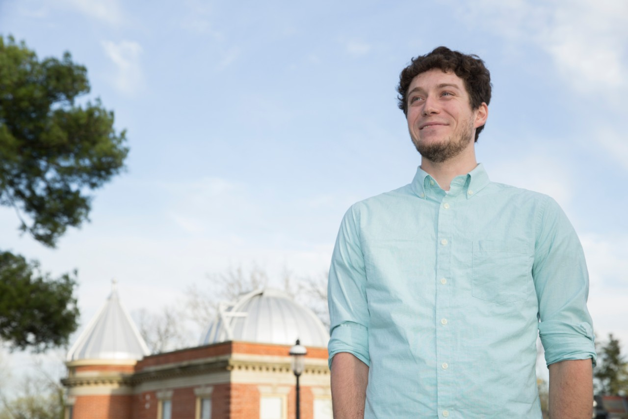 UC graduate Kevin Wagner discovered a new planet with three stars last year.