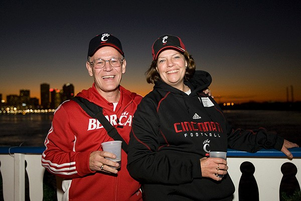 George Fels, Bus '69, and Rosanne Fels on a New Year's Eve bayou cruise sponsored by the UC Alumni Association.