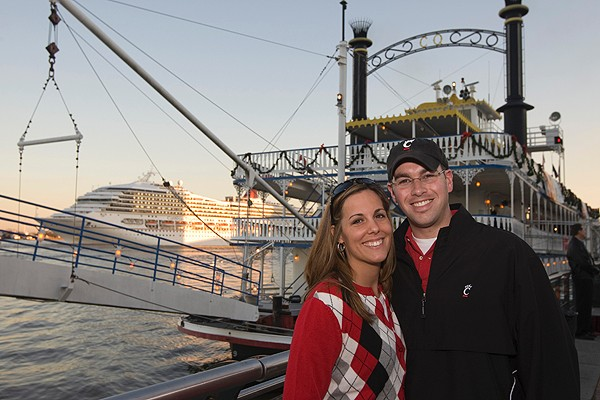 The UC Alumni Association sponsored a New Year's Eve cruise aboard the Creole Queen in the bayou for visiting Bearcats.
