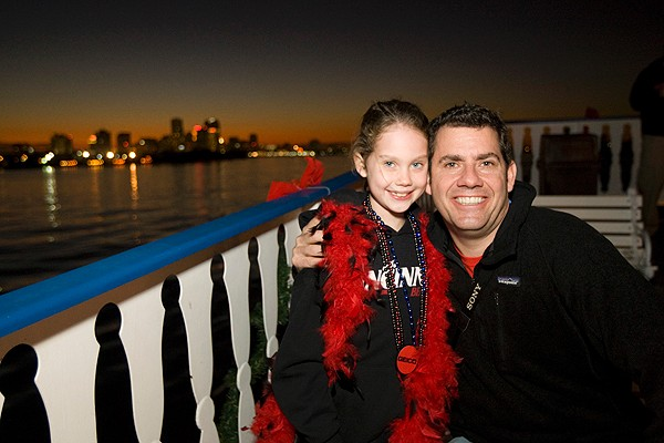 The UC Alumni Association sponsored a New Year's Eve cruise in the bayou for visiting Bearcats.