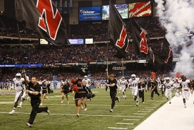 The Bearcats take the field during the 76th Allstate Sugar Bowl Jan. 1, 2010 inside the Louisiana Superdome. Florida won the game 51-24.