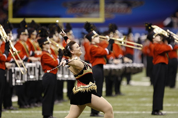 UC's marching band played in front of the Superdome crowd and before millions watching at home.