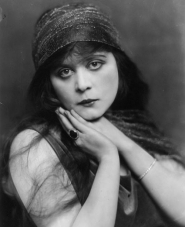 Portrait of Theda Bara in her early years.