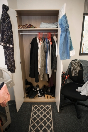 The Closet, a clothing bank launched by the UC LGBTQ Center, is an Ikea wardrobe closet filled with clothes offered at no cost to transgender or gender nonconforming students in need.
