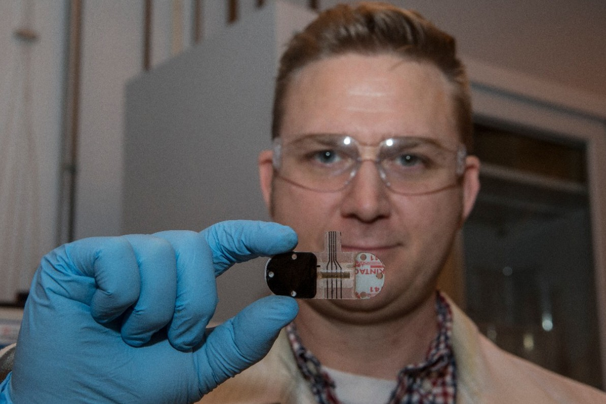 UC's research in sensors continues to be a pipeline for industry. Heikenfeld is co-founder and chief science officer for Eccrine Systems Inc., a Cincinnati company that specializes in sweat biosensors.