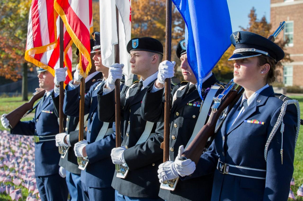 The ROTC color guard.
