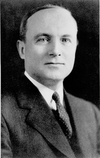 Photo of UC President Raymond Walters from the 1933 Cincinnatian yearbook.