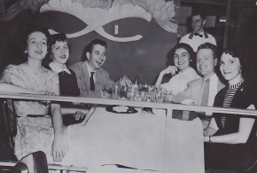 UC's Gang of Five members after graduation in 1952 at the Beverly Hills Supper Club.