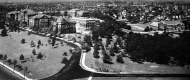 Aerial view looking out over UC's campus from Clifton Ave. in 1920.