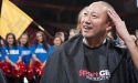 UC President Santa Ono shaves head for charity