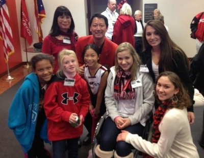 Sara Whitestone got to hang out with UC interim president Santa Ono, his family and other special guests prior to UC's Homecoming game.