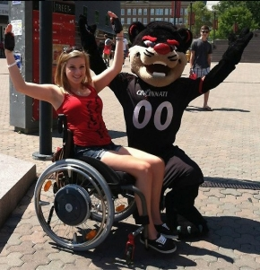 Sara Whitestone with the UC Bearcat