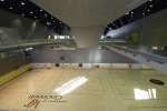 The massive facility boasts a six-court gymnasium for basketball, volleyball and sports leagues.