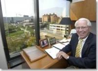 President emeritus Joseph Steger photo/Lisa Ventre