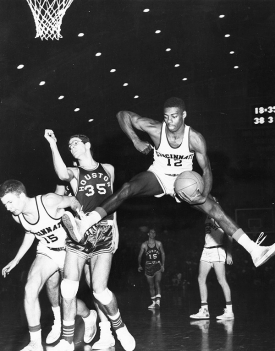 Oscar Robertson playing at UC