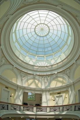 Dome inside of Van Wormer Hall
