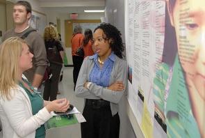 UC Medical Students talking.