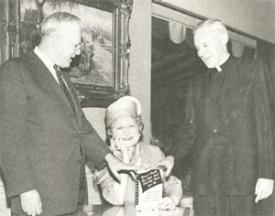 Dolly Cohen, Walter Langsam, Rev. Paul O'Connor