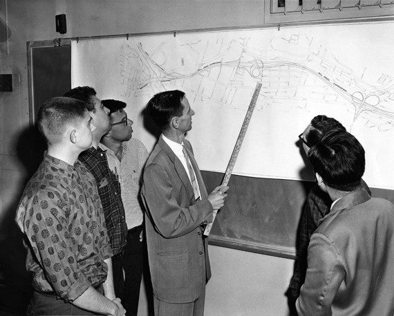 1959 picture of UC engineering students