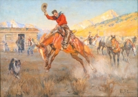 """Philip Russell Goodwin """"Bronco Buster"""""""