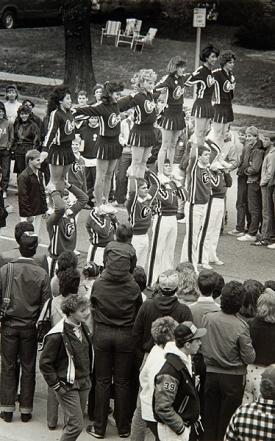 UC Cheerleaders in 80s