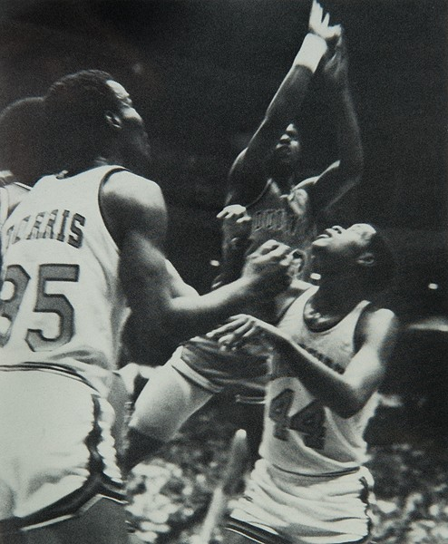 UC Basketball players in 1982.