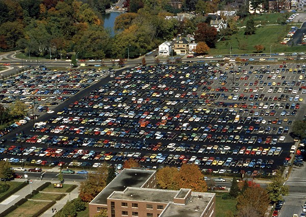 Surface lot at UC the 80s.