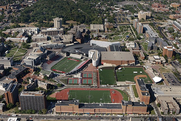 Aerial view of UC.