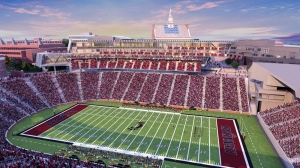 Rendering shows Nippert Stadium as it relates to campus architecture