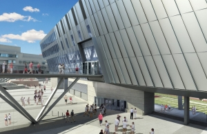Rendering shows a new walkway between Tangeman University Center and Nippert Stadium.