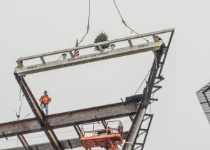Final beam placed on Nippert Stadium