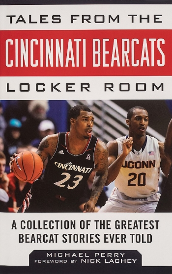 The cover of a book written by Michael Perry about the University of Cincinnati Bearcat basketball team.