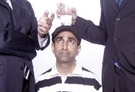 University of Cincinnati alum and professional comedian Rajiv Satyal in a comical pose.