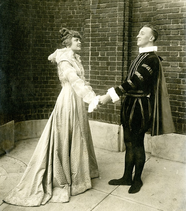 The 1916 senior class play, Much Ado About Nothing, was one of many activities staged for the Shakespeare anniversary.