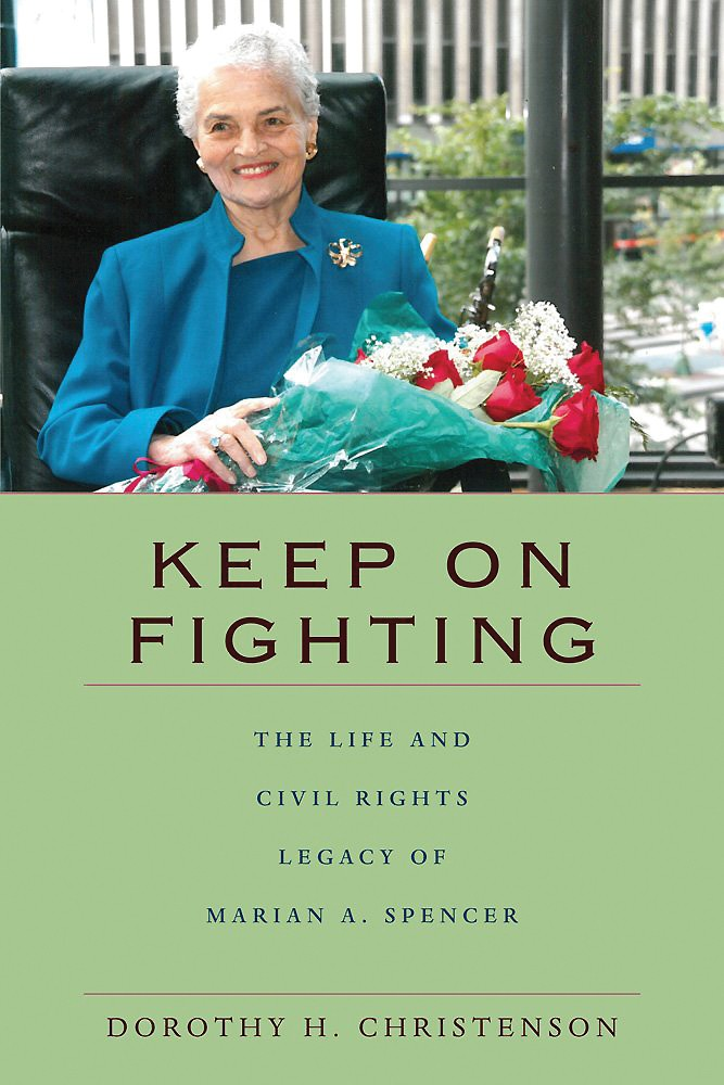 A book cover, Keep on Fighting by Marian Spencer