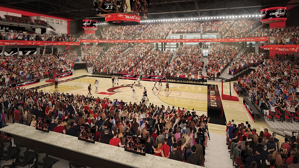 An architectural rendering of UC's Fifth Third arena
