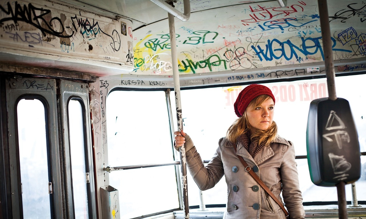 UC alumna Natalie Bullock rides public transit in Bosnia